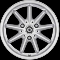 9-spoke alloy wheels, front