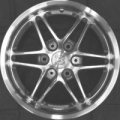 Brabus Mono VII alloy wheel, black chrome effect, front axle