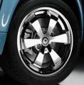 "6-spoke alloy wheel 15"" chrome look Set"
