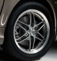"BRABUS ""Monoblock VII"" alloy wheel, silver/high-sheen, front axle"