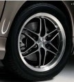 "BRABUS ""Monoblock VII"" alloy wheel, black/high-sheen, rear axle"