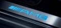 AMG door sill panels, Models from 03/2006, blue-backlit, 4-piece, appointment colour alpaca grey, x 2