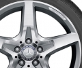 AMG 5-spoke wheel - Rear axle, Silver/high-sheen