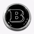 BRABUS emblem for tailgate, replaces MB-star