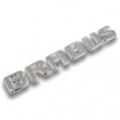 BRABUS logo for tailgate, chrome-plated