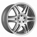 BRABUS Monoblock VI Double spoke design one-piece silver polished front