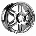 BRABUS Monoblock VI Double spoke design multi-piece silver polished front