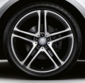 "AMG Wheel 21"" 5-twin-spoke two-tone, black/high-sheen"