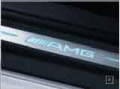 AMG door sill panels, Blue-backlit, brushed stainless steel, X2