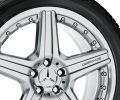 "AMG light-alloy wheel, 19"" Style VI, multi-piece, sterling silver paint finish"
