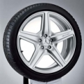 "AMG light-alloy wheel, 20"" Style III, titanium silver paint finish"
