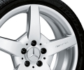 "AMG light-alloy wheel, 17"" Style III, titanium silver paint finish"