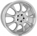BRABUS Monoblock E Nine-spoke design one-piece exterior rim silver polished rear