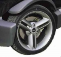"16"" Crossblade wheels set Titanium"