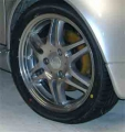 "Brabus Monoblock VI 17"" wheel set, aluminium polished"